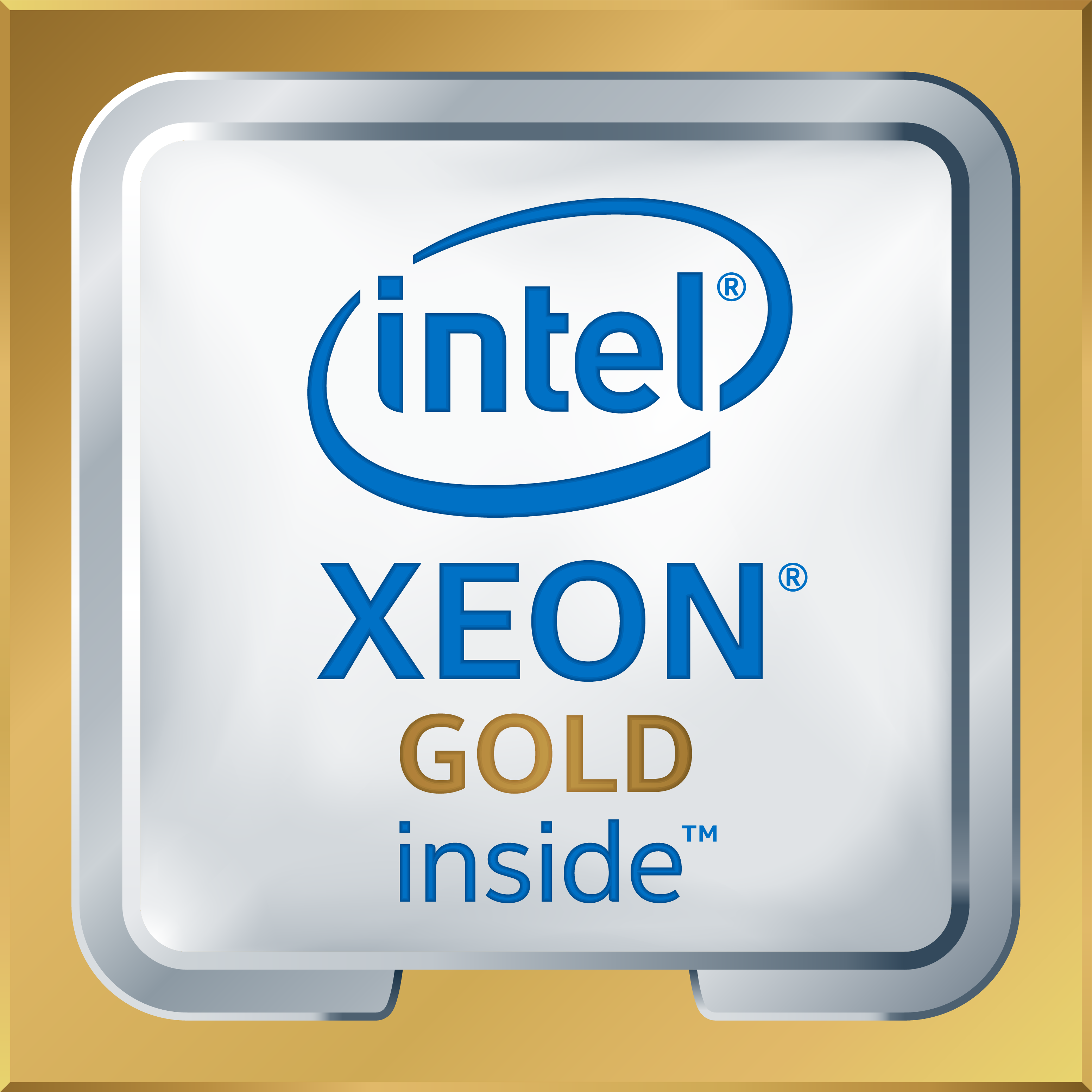 Intel Xeon Gold Logo High Res Transparent 2017